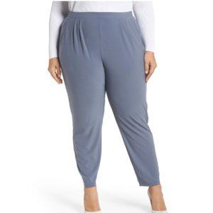 Leith Gray High Rise Pleated Pants (Plus Size)